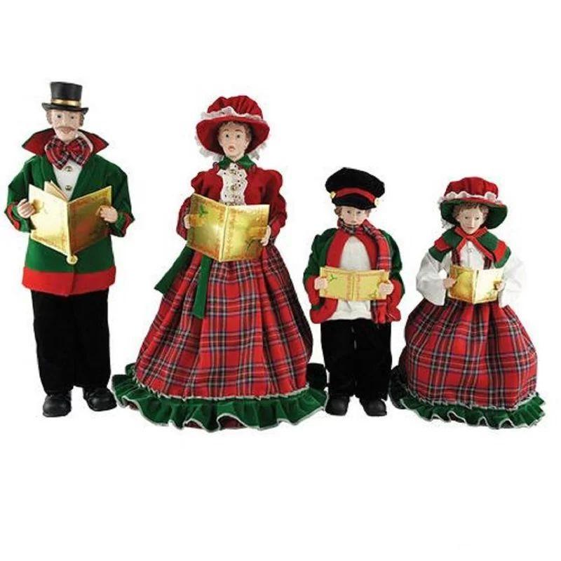 Traditional Christmas Decorations - Christmas Day Caroler Figurine Set