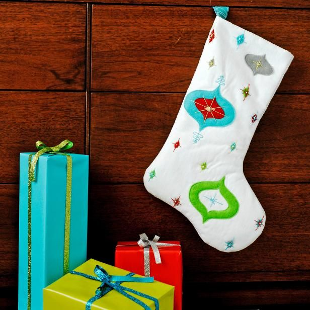 DIY Retro Stocking via diynetwork