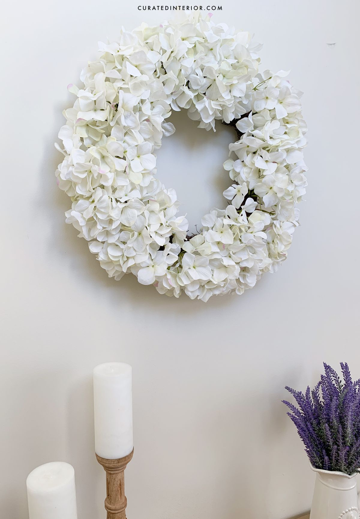 French Country Floral Wreath at Entryway