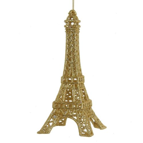 Gold Eiffel Tower Ornament