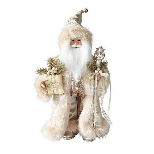 Gold Santa with Fur Coat