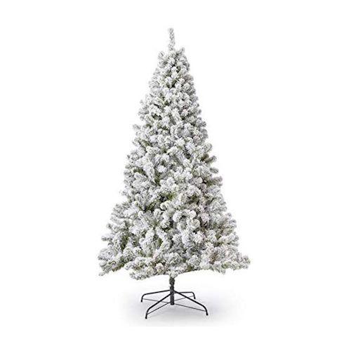 King of Christmas 6-Foot Flocked Tree for Christmas