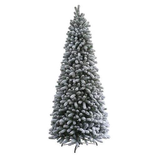 King of Christmas 9 Foot Slim Flocked Christmas Tree