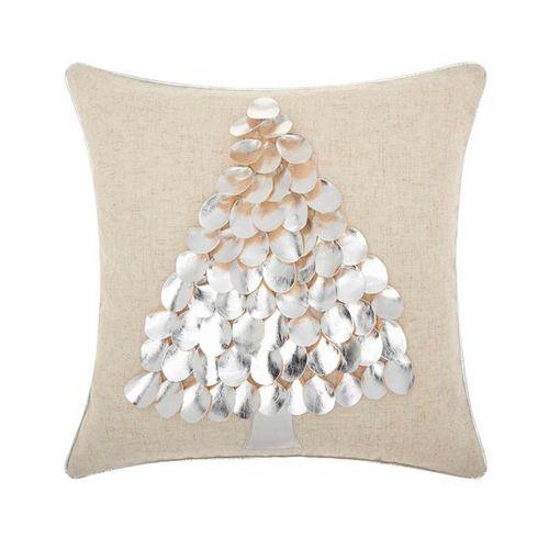 Metallic Tree Decorative Throw Pillow
