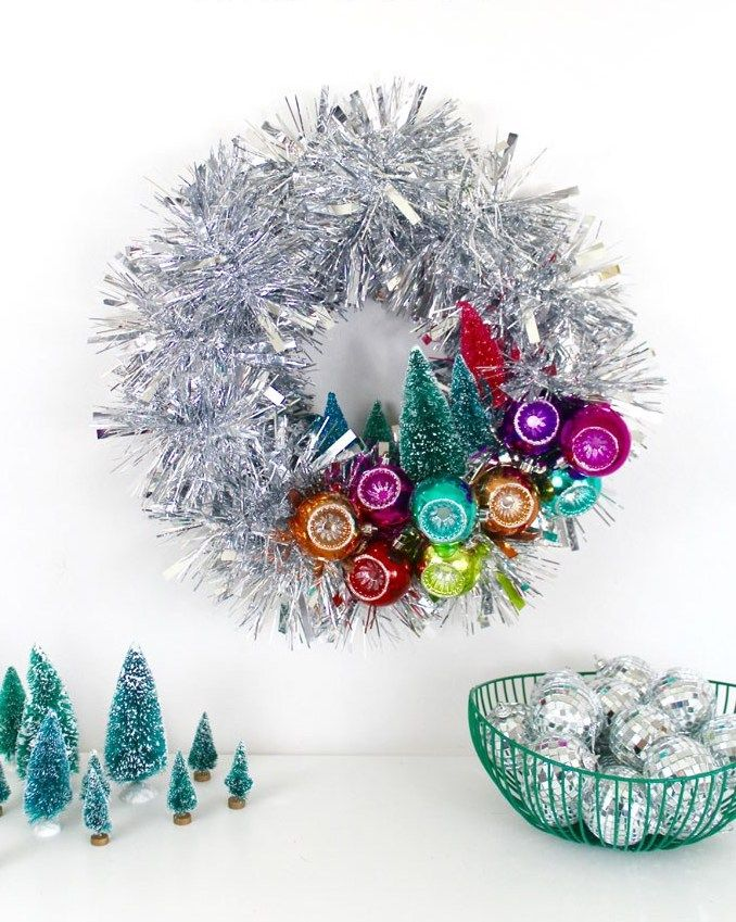 Mid-century Aluminum Christmas Wreath via craftandtell
