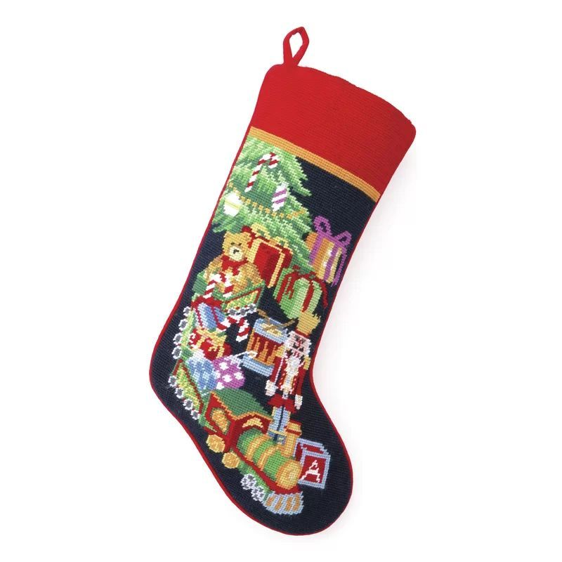 Traditional Christmas Decorations - Needlepoint Stocking