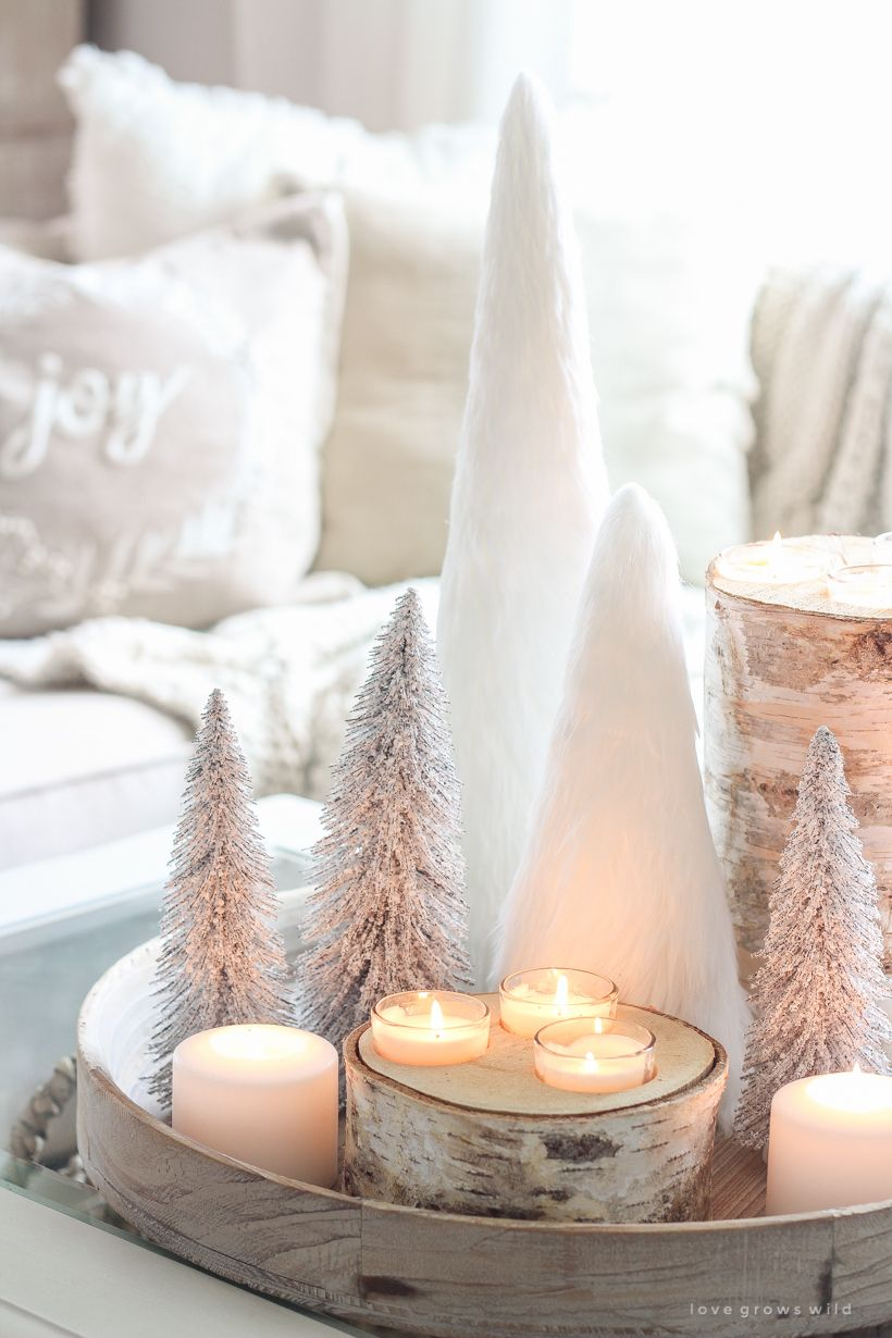 Neutral Mini Christmas Trees Decoration via lovegrowswild