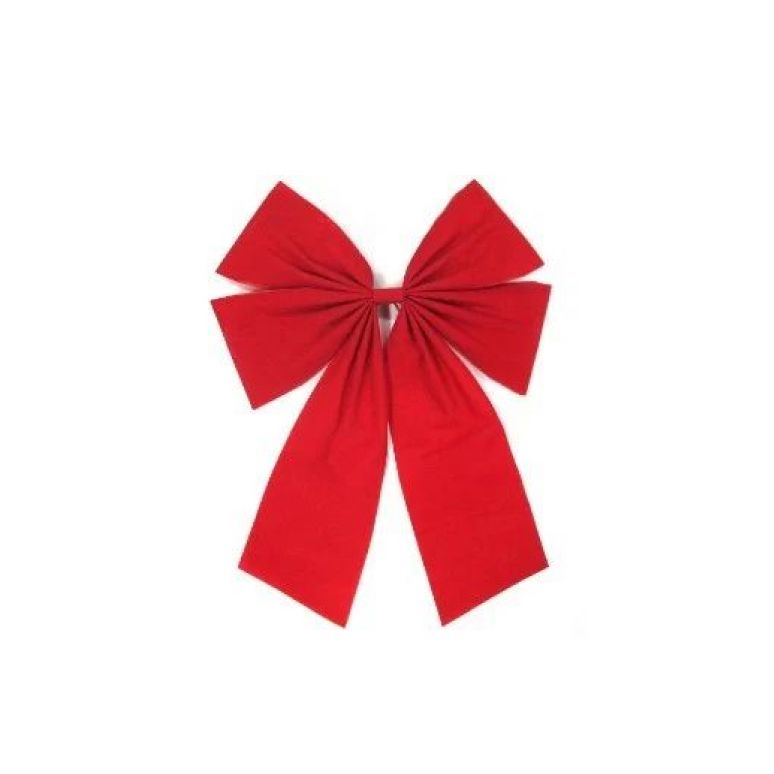 Traditional Christmas Decorations - Red Velvet Bow
