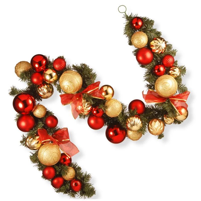Traditional Christmas Decorations - Red and Gold Garland