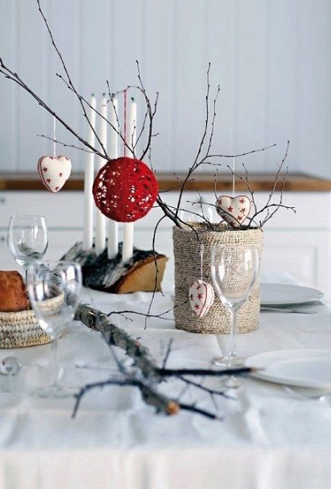 Scandi Christmas Centerpiece for Dining Room