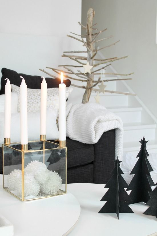 Scandi Christmas Coffee Table Decor via annelinsoroy