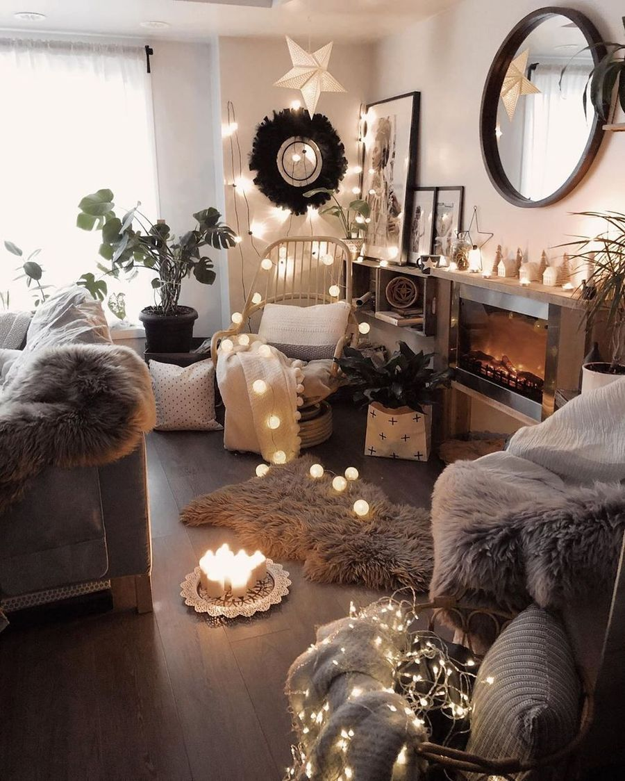 25 Scandinavian Christmas Living Room Decor Ideas