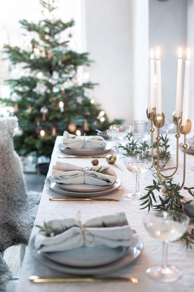 Scandi Christmas Table Setting via myscandinavianhome