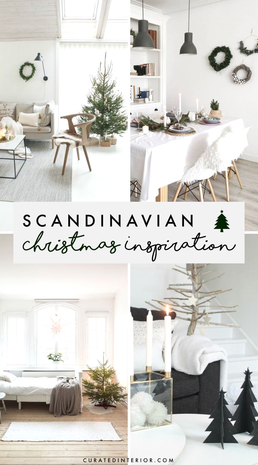 Scandinavian Christmas Decor Inspiration - the ultimate guide to decorating a Scandi style Christmas home this year!
