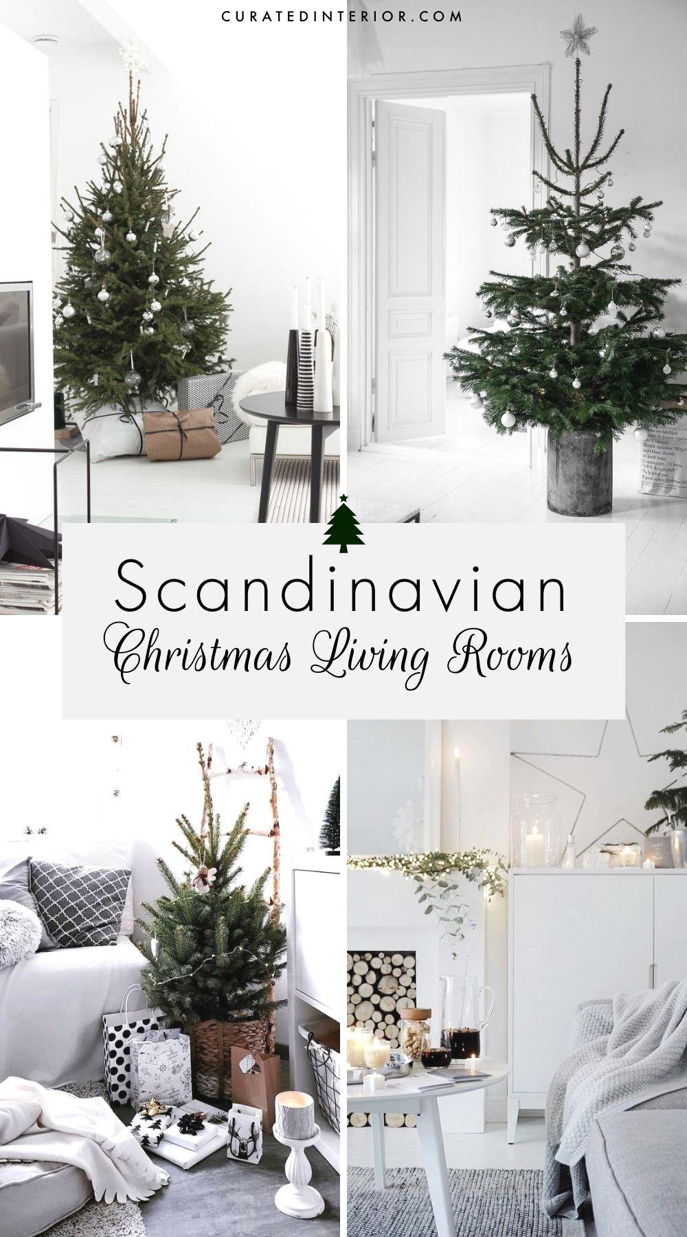 Scandinavian Christmas Living Rooms