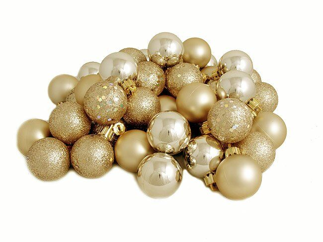Shatterproof Gold Ball Ornament Set