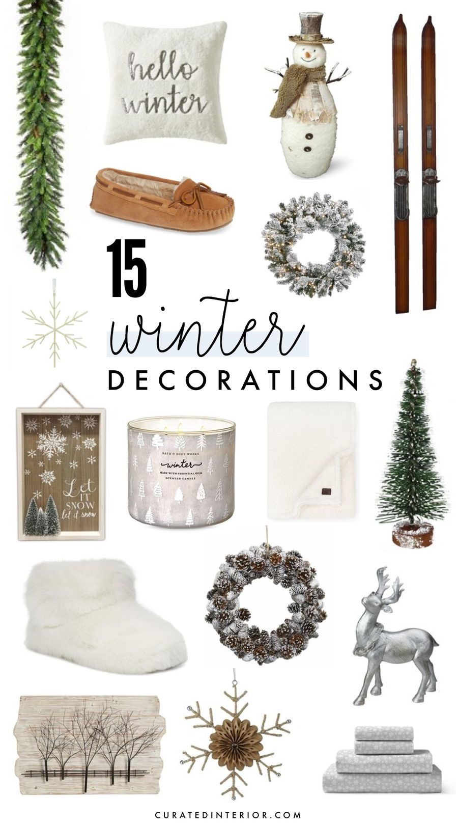 15 winter decorations for a cozy home