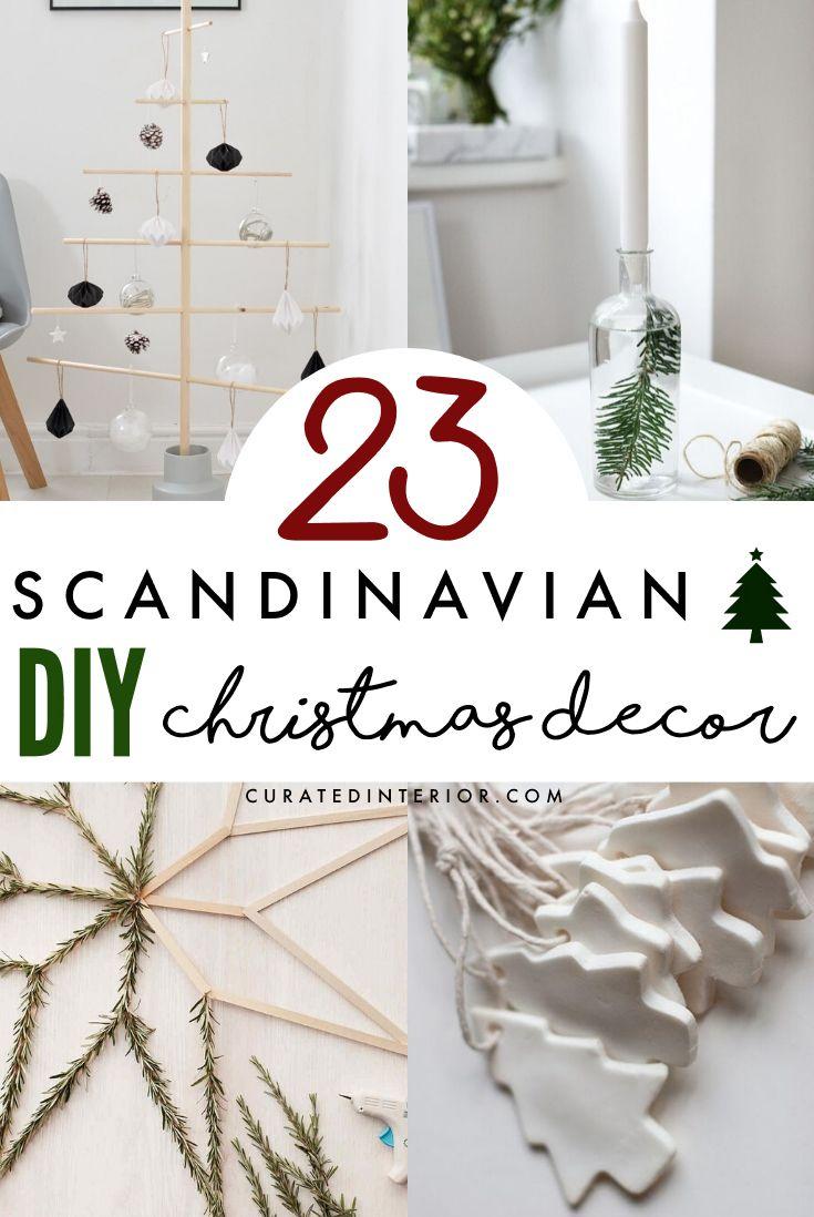 23 Scandinavian DIY Christmas Decor