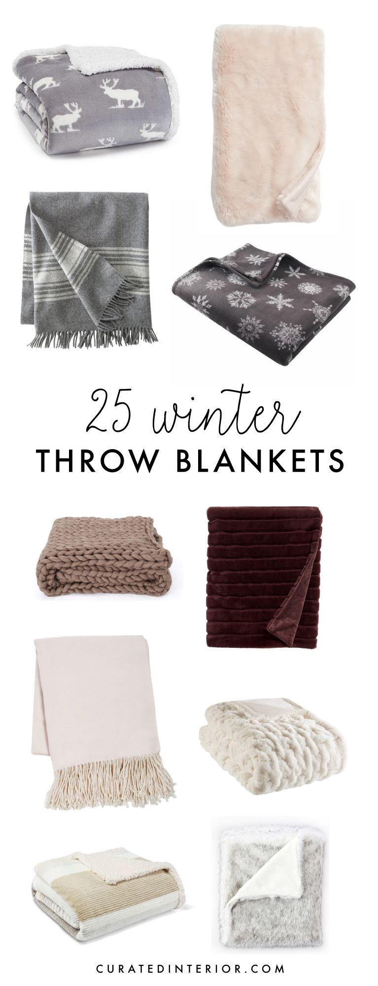 25 Winter Throw Blankets