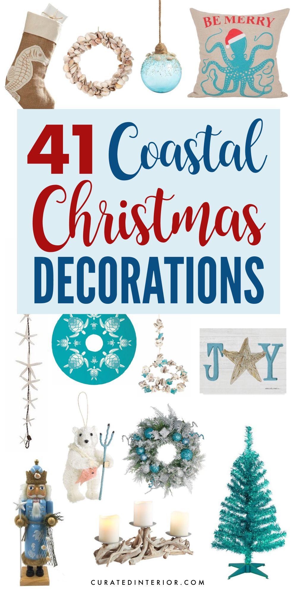 41 Coastal Christmas Decorations #coastaldecor #coastalchristmas #christmasdecor #christmas