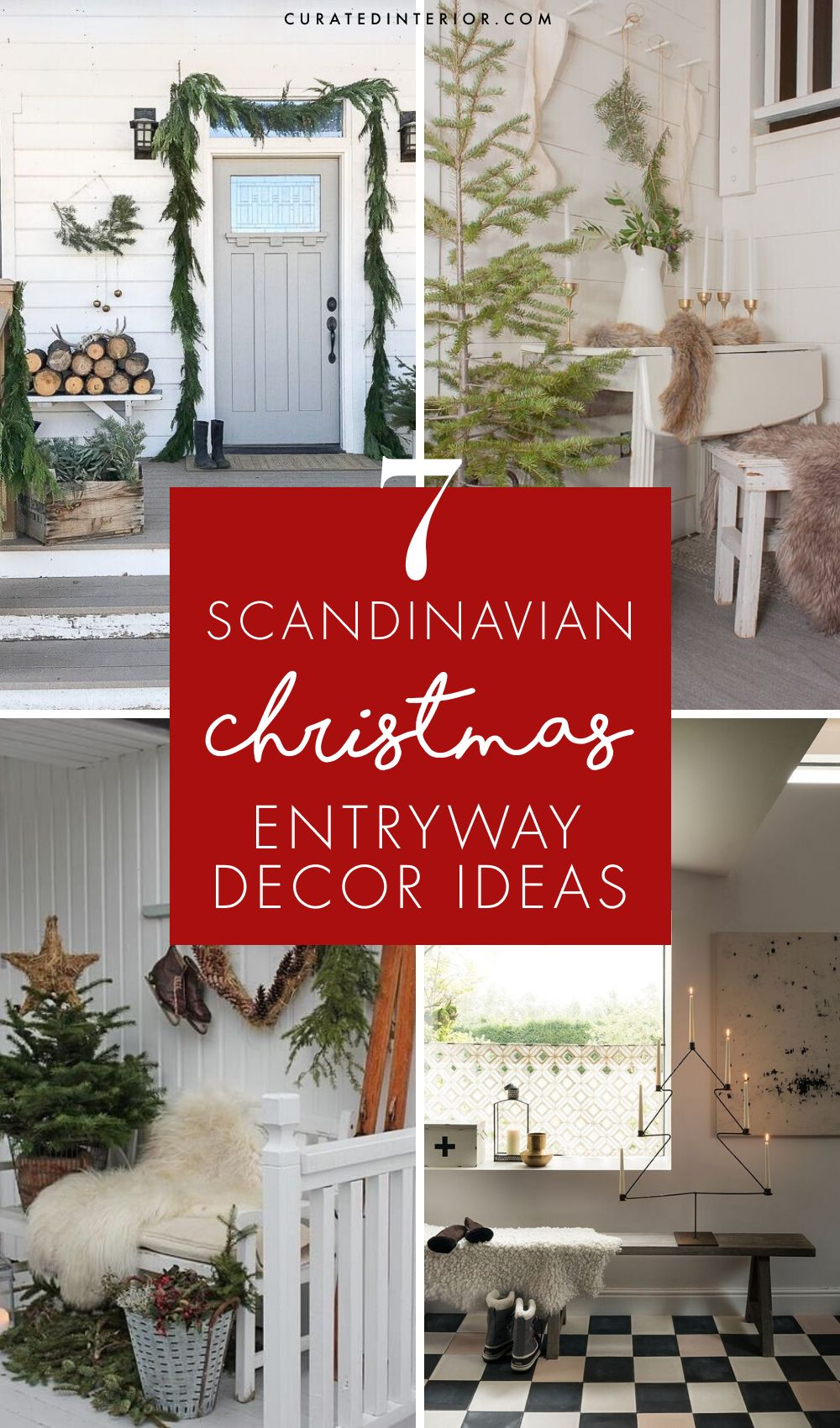 7 Scandi Christmas Entryway Decor Ideas