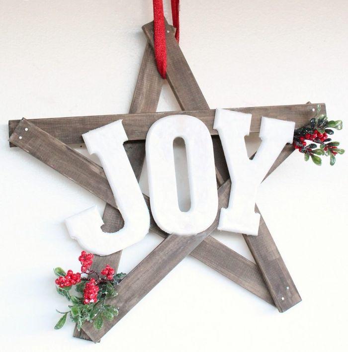 Christmas JOY Wreath DIY via sixsistersstuff