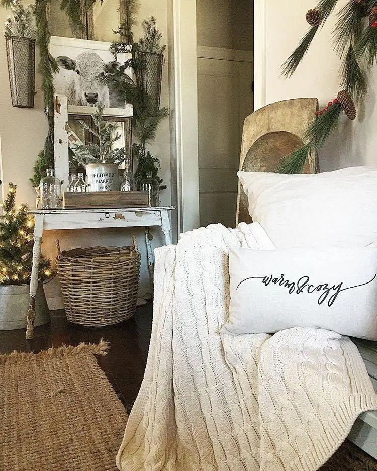 Cozy Farmhouse Winter Accent Chair via She Gave it a Go