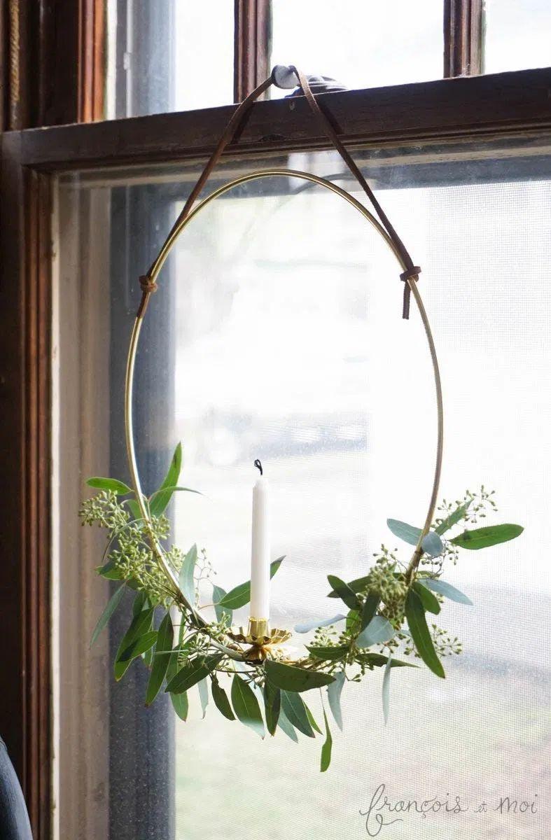 DIY Candle Wreath via francoisetmoi