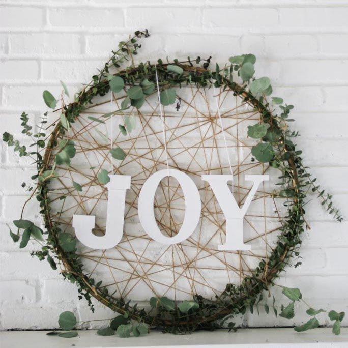 DIY Rope and Eucalyptus Circle Wreath via homemadeginger