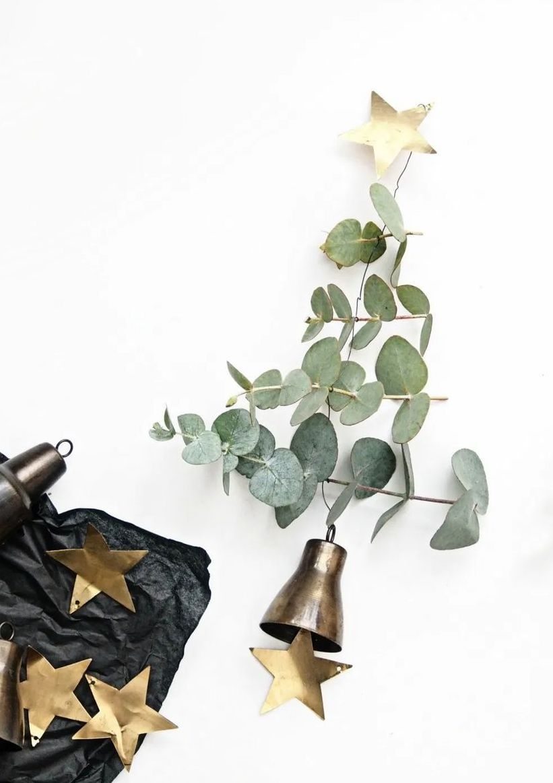 DIY Scandi Eucalyptus Christmas Trees via monsterscircus