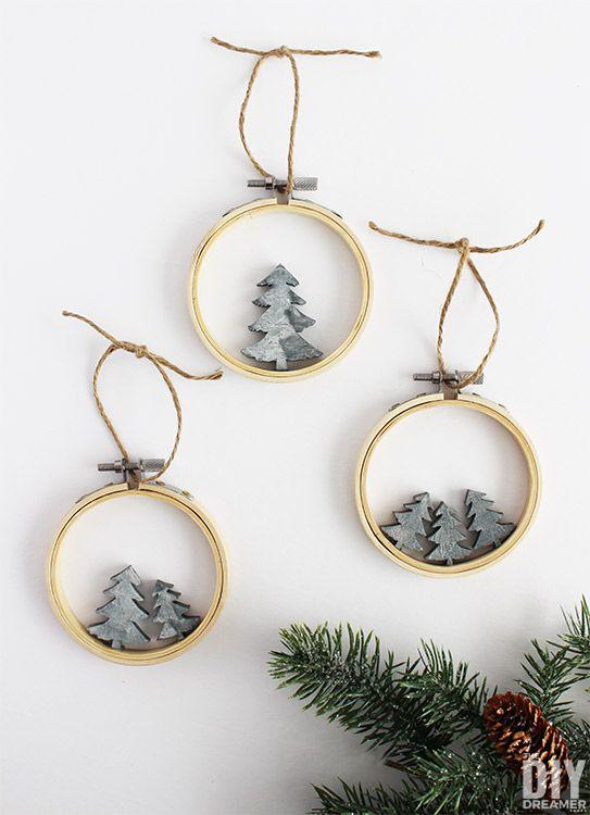 DIY Scandi Hoop Tree Christmas Ornaments via the diy dreamer - DIY Scandinavian Christmas Decorations