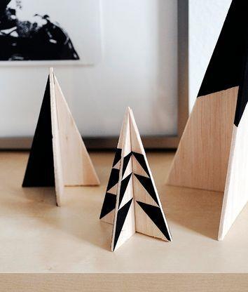 DIY Scandi Modern Wood Christmas Tree Set via curbly