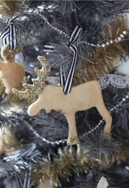 DIY Scandi Moose Ornament via dwellingsbydevore