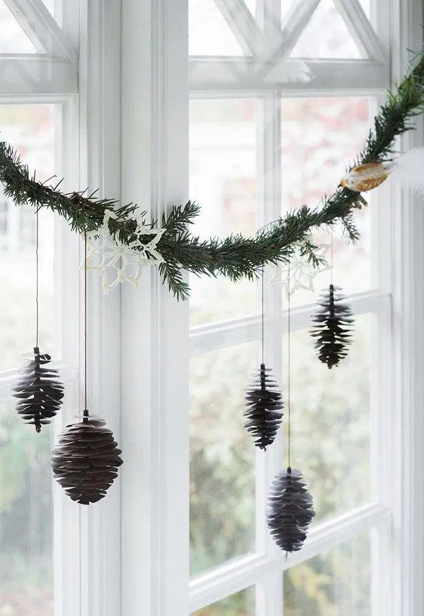DIY Scandi Paper Pinecones via thesefourwallsblog