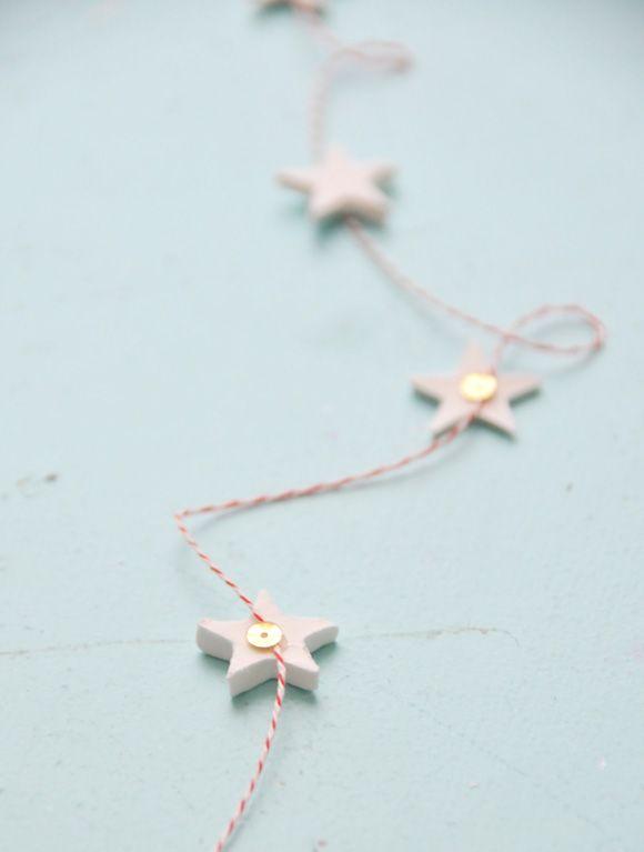 DIY Scandi Star Garland via molliemakes