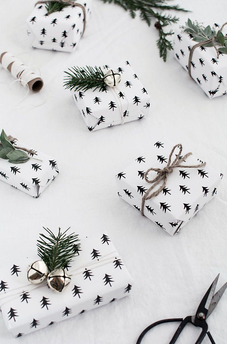DIY Scandinavian Christmas Wrapping Paper via homeyohmy - DIY Scandinavian Christmas Decorations