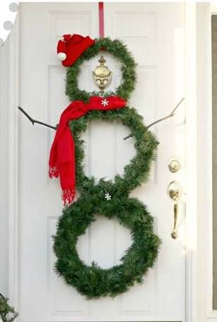DIY Snowman Wreath via sweetlittlebluebird