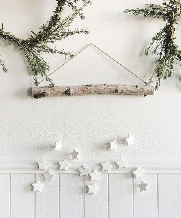 DIY Tiny Star Wall Hanging via delineateyourdwelling