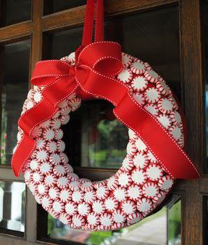 Peppermint DIY Wreath via Gwynn Wasson Designs