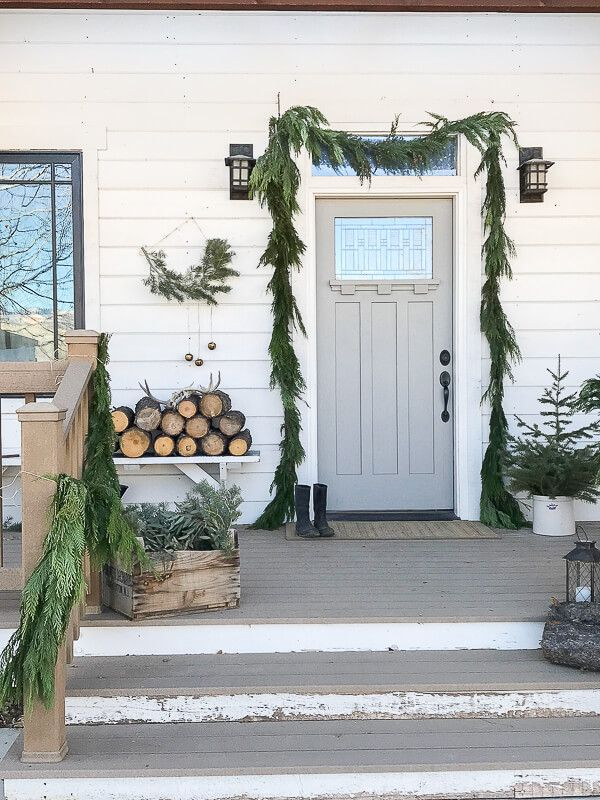Scandinavian Christmas Entryway Decor Decor via twelveonmain1