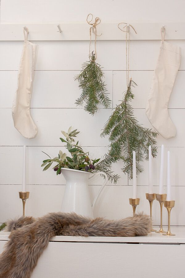 Scandinavian Christmas Entryway Decor Decor via twelveonmain2