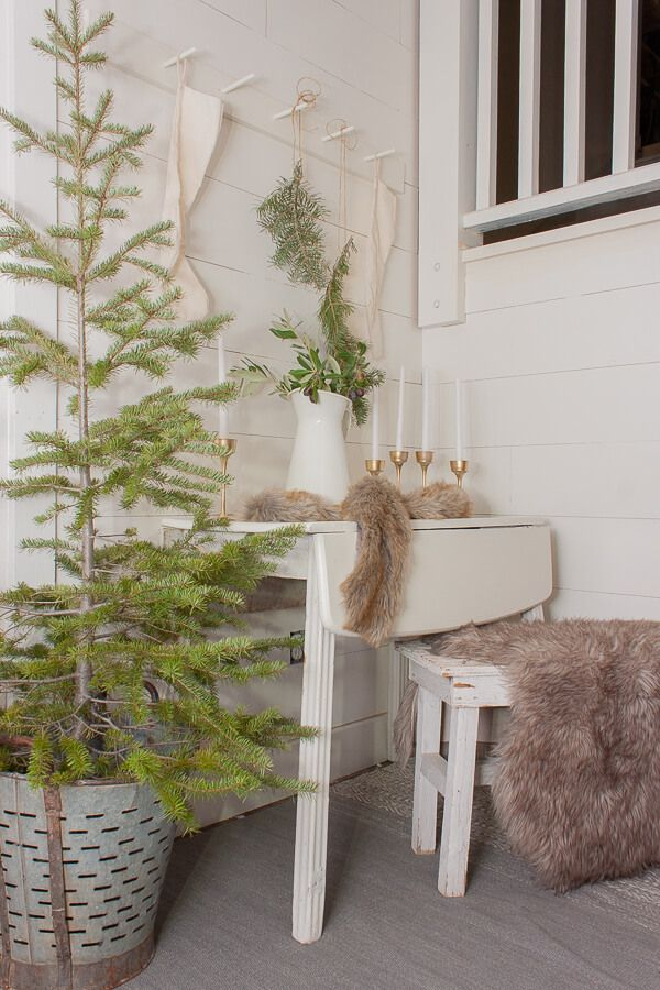Scandinavian Christmas Entryway Decor Decor via twelveonmain3