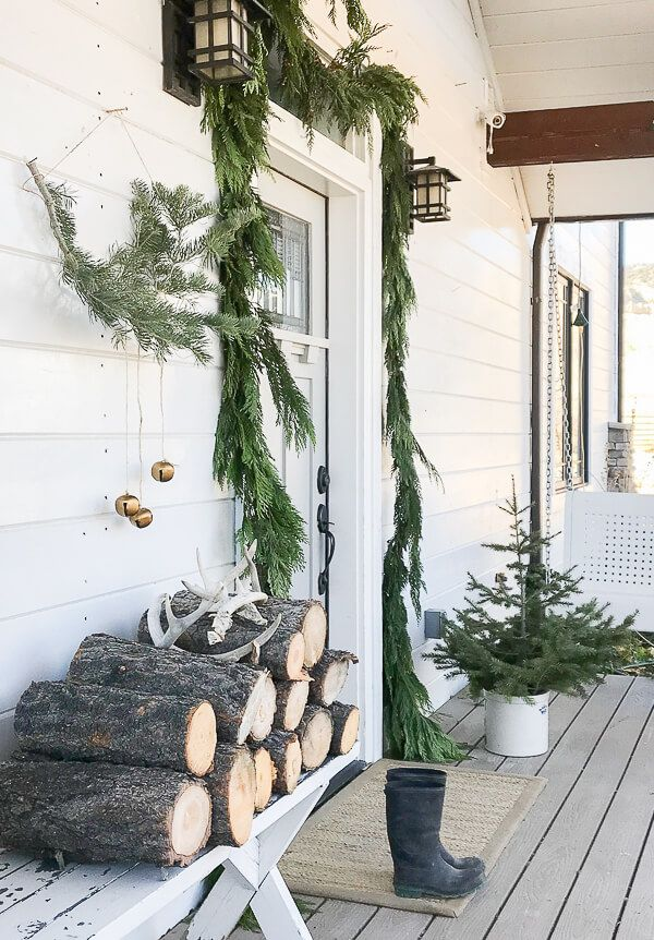 Scandinavian Christmas Entryway Decor Decor via twelveonmain4