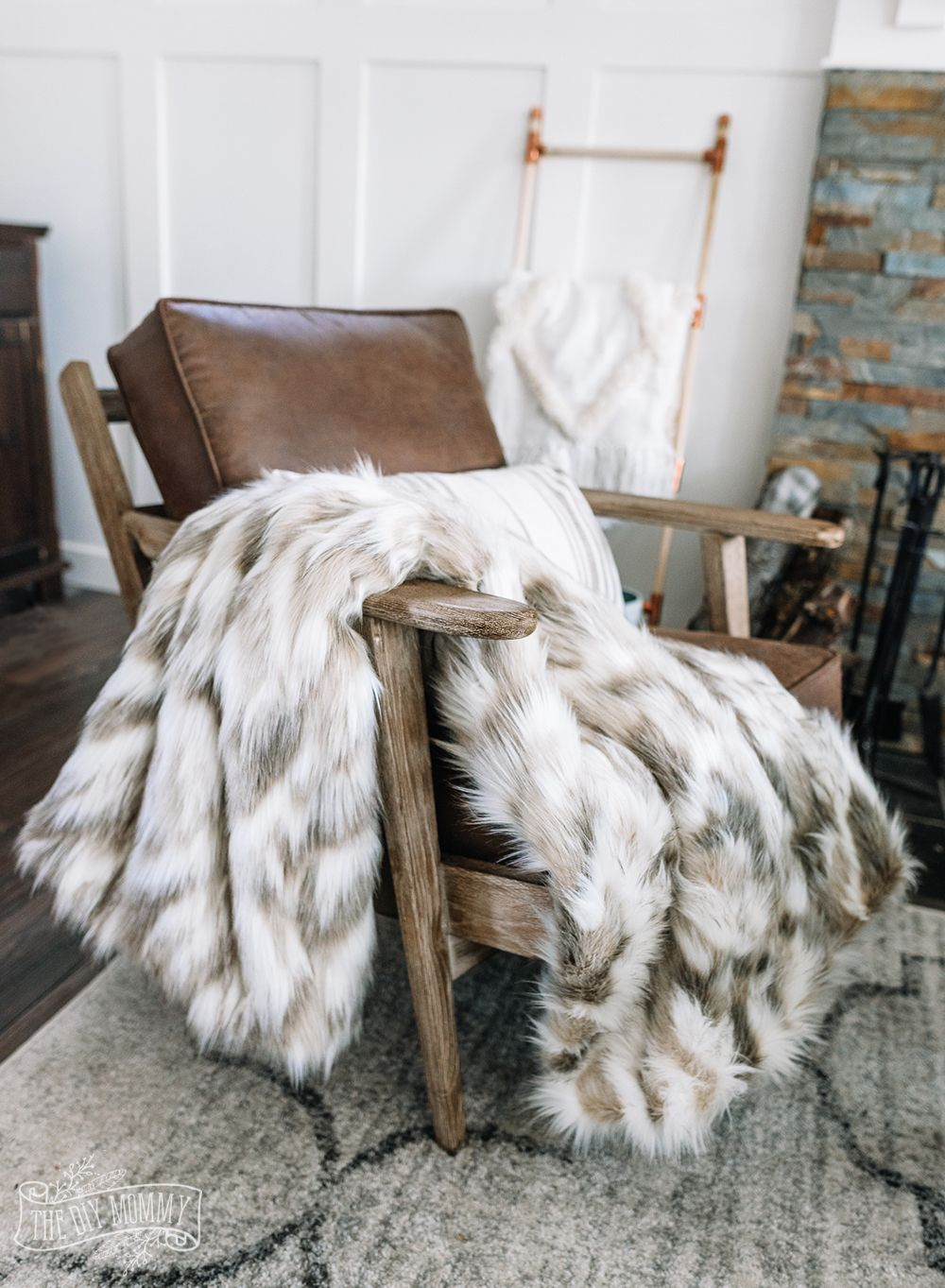 Winter throw blankets via thediymommy