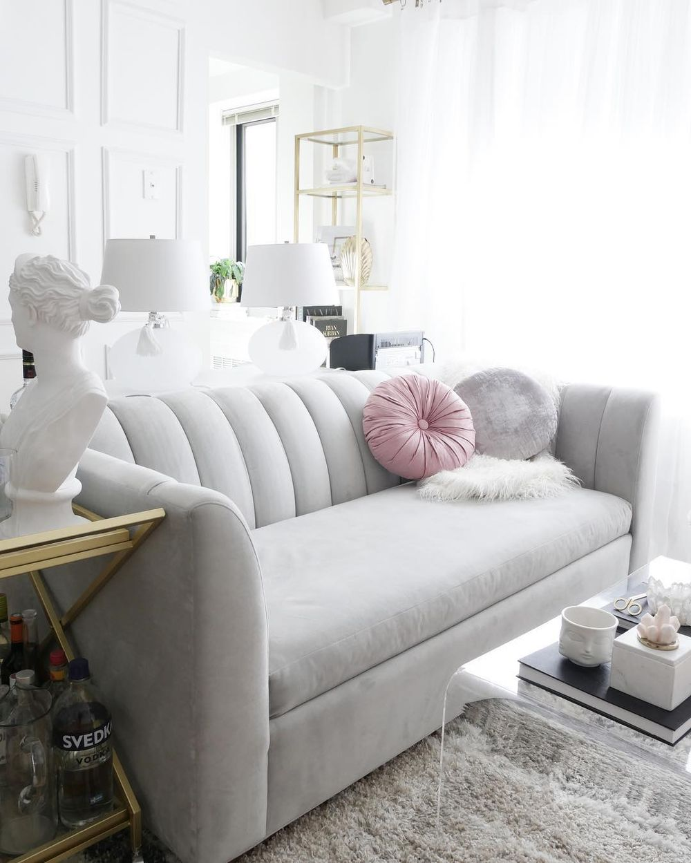 Glam channeled Sofa via @citychicdecor