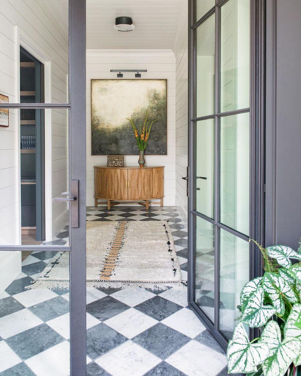 7 Black And White Checkered Floors Decor Ideas