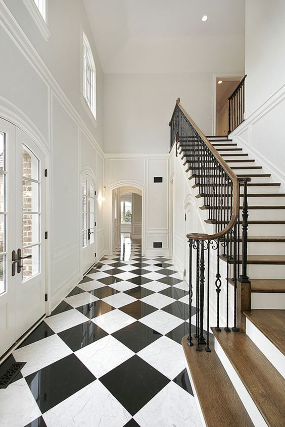 7 Black and White Checkered Floors Decor Ideas