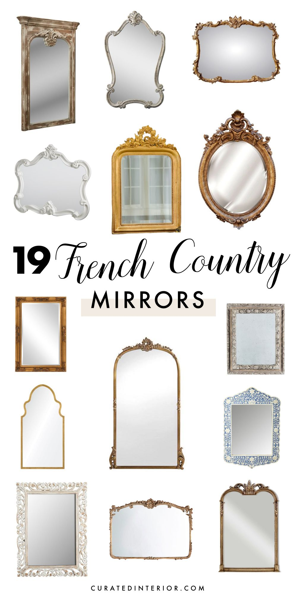 19 Charming French Country Mirrors