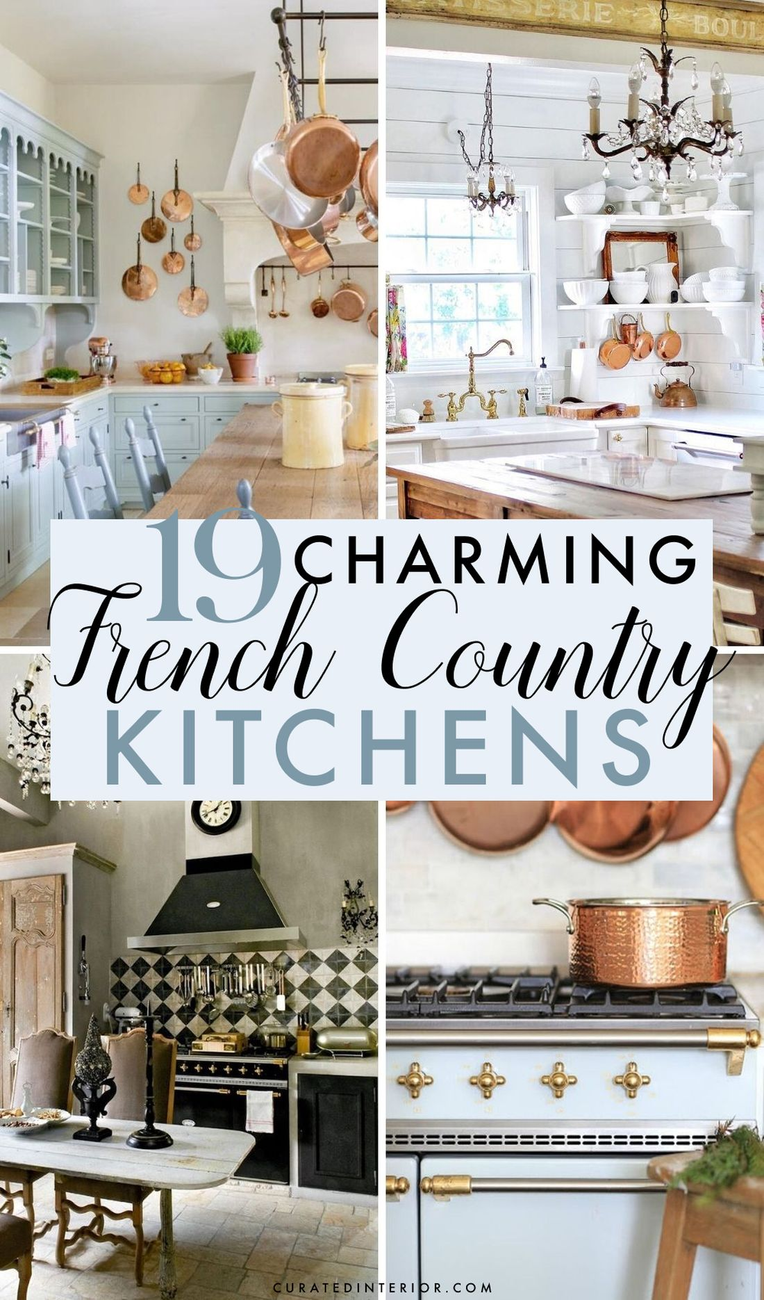 8 Most Gorgeous French Country Kitchens