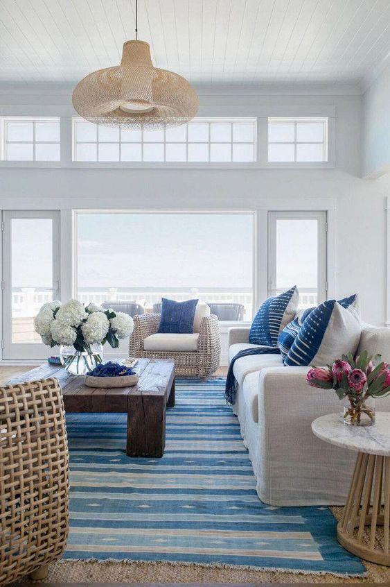 39 Coastal Living Rooms To Inspire You, Beach Decor Ideas Living Room